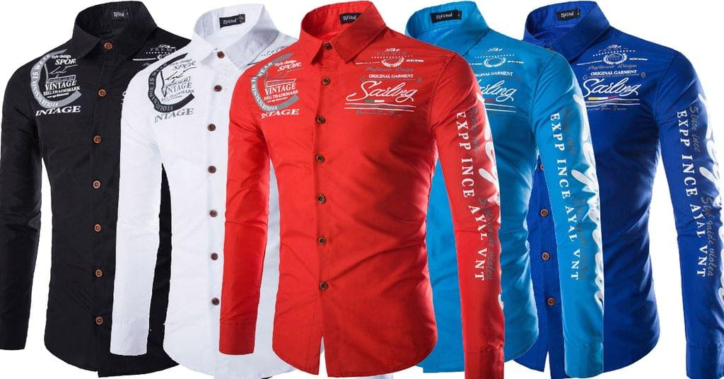 Combo of 5 New Trend Men's Fashion Long Sleeve Print Designer Best Brand Casual shirts for Men