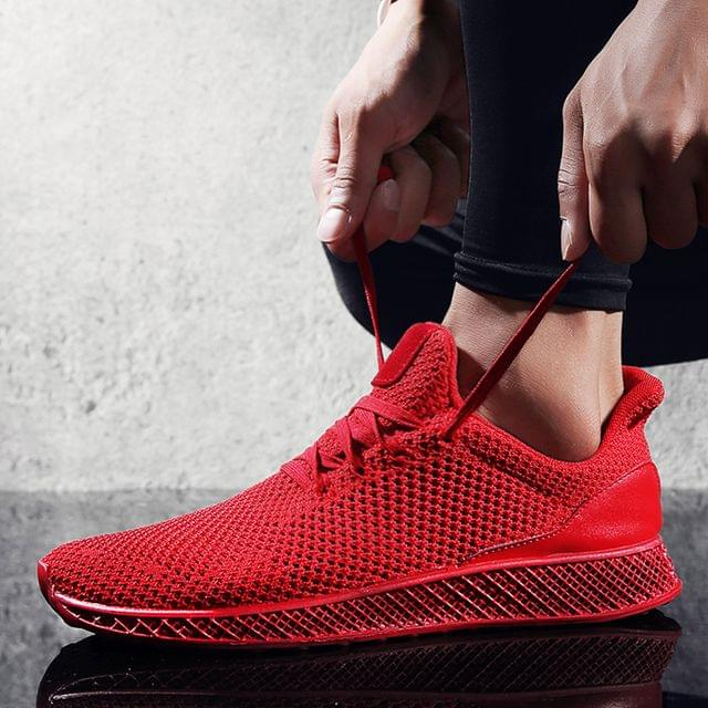 New Branded Fashionable New Design Light Weight Red color Flexible Sports Shoes For Men.