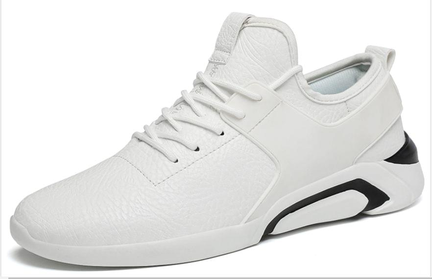 New fashion big Sizes fashionable designer Lace up without heels white color Shoes for men