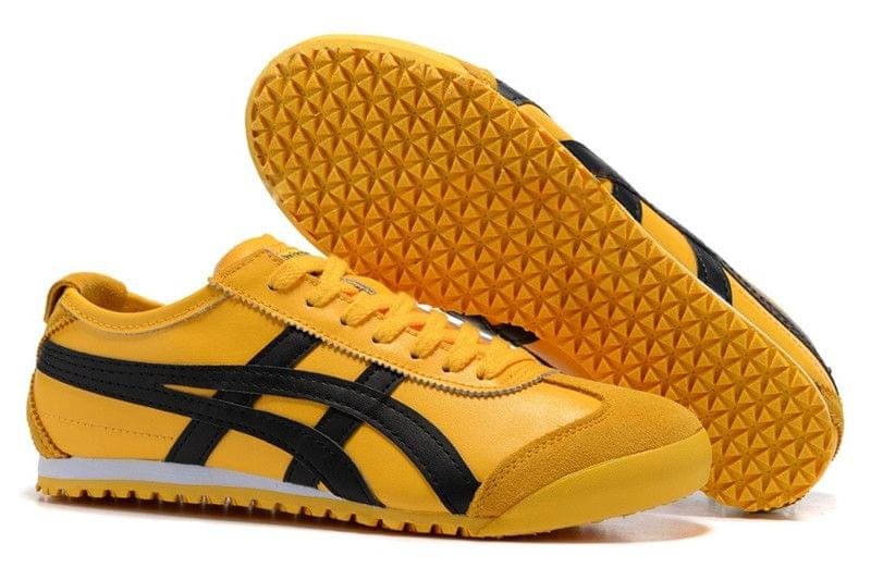New Branded Runner Classic Yellow Leather Shoes For Men