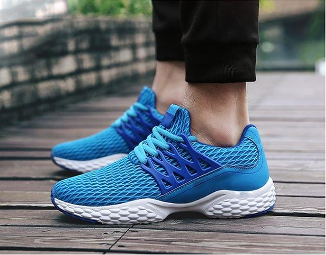 New Branded wear Blue mesh easy comfortable shoes for men