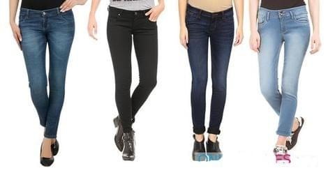 Combo Of 4  Stylish Looks Branded Women's  Standard-Fit Denim Jeans