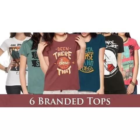 PACK OF 6 BRANDED T-SHIRT FOR GIRLS