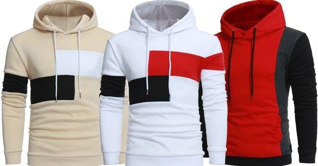 Combo of New 3 Stylish Sweatshirts Light Color Hoodies for Teenager