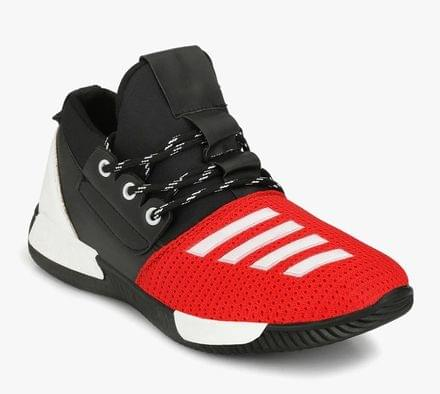New Stylish Unique Design Upper Men's Black & Red Stylish Color Combination Sneaker Shoes