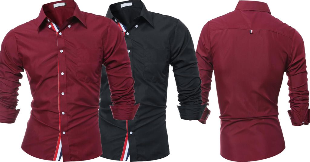 Combo of 2 Fashionable long sleeves Tops corrective High quality Men's Shirts