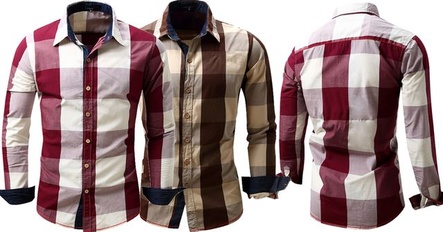 Combo of 2 New 100% Cotton Full Sleeves Checked Shirts for Men