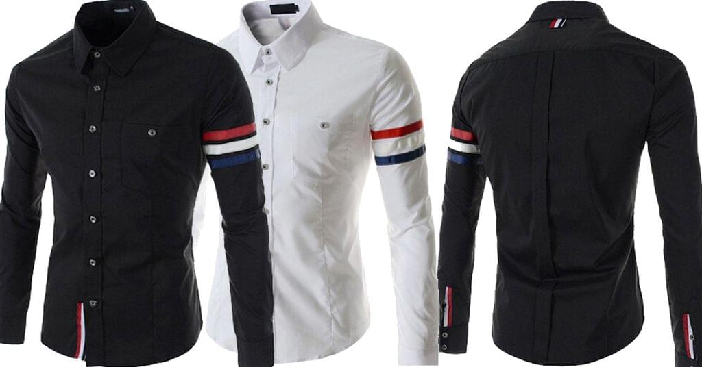 Combo of 2 Hot New Fashion striped long sleeves Slim fit Casual Cotton Men's Shirts