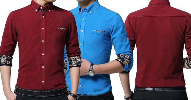 COMBO OF 2 DIFFERENT COLOR LUXURY SLIM FIT CASUAL SHIRTS