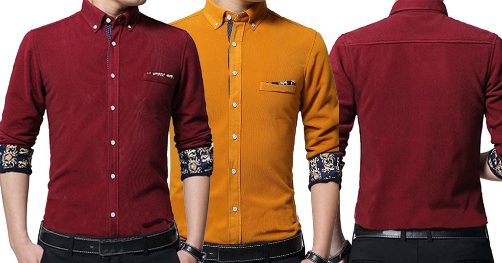 COMBO OF 2 DIFFERENT COOL COLOR LUXURY SLIM FIT CASUAL SHIRTS