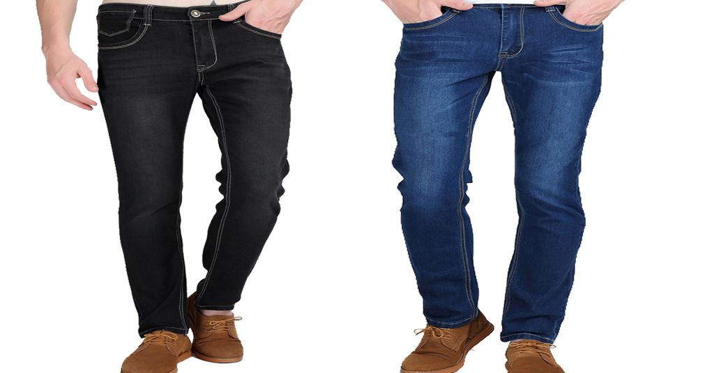Combo of 2 fashionable high elastic tighten Solid Brand Casual tight jeans for Men