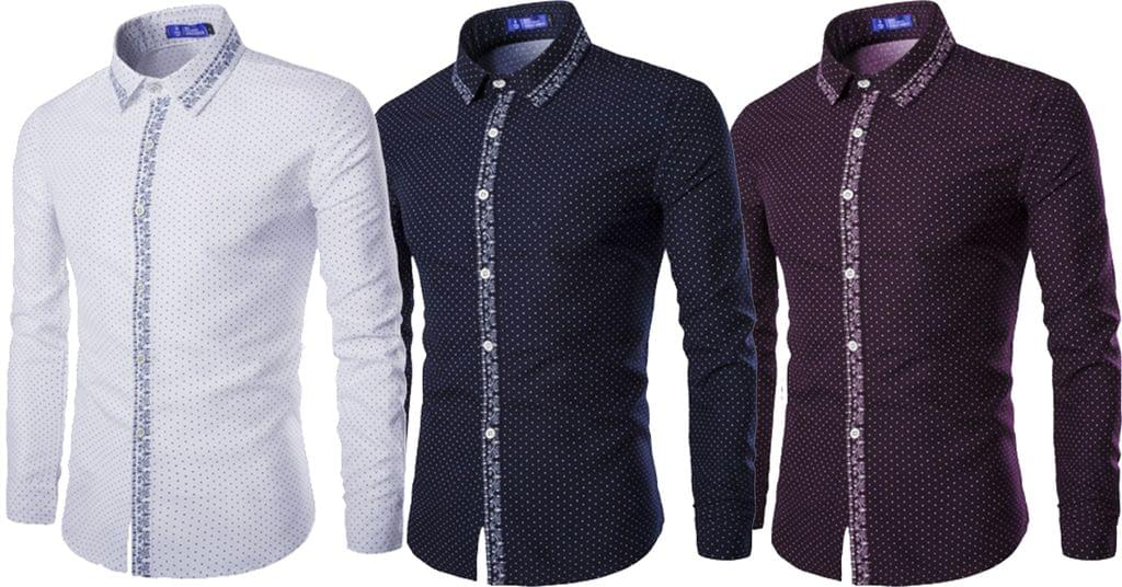 Combo of 3 New fashionable Spots Straight Traditional Design Men's Shirt