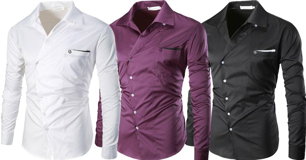 Combo of 3 New Branded clothing with long sleeves Casual monophonic shirts for men