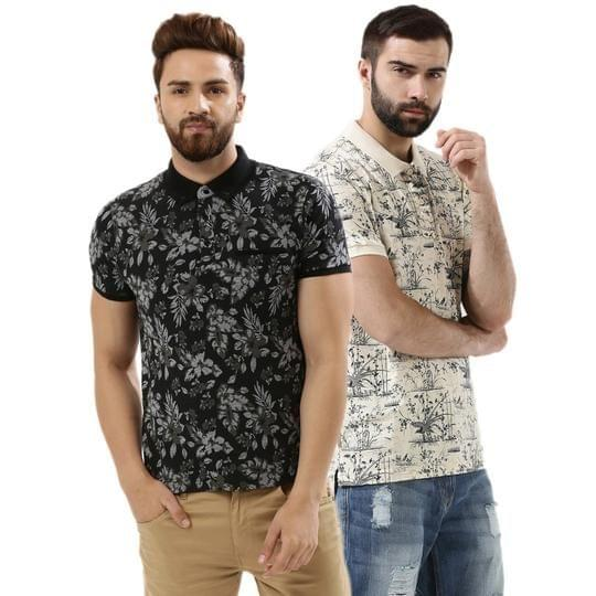 Pack of 2 Premium Quality Casual Printed t'shirts