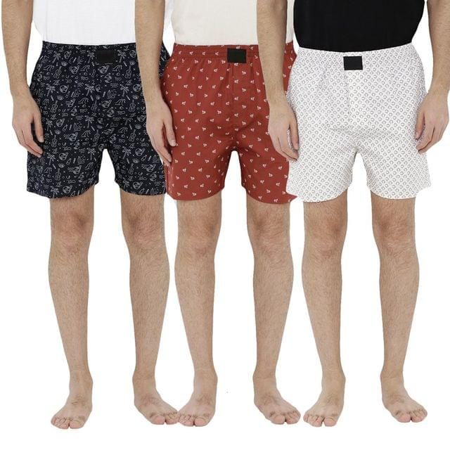 Combo of 3 Fashionable Summer Collection men's Cotton Premium Shorts