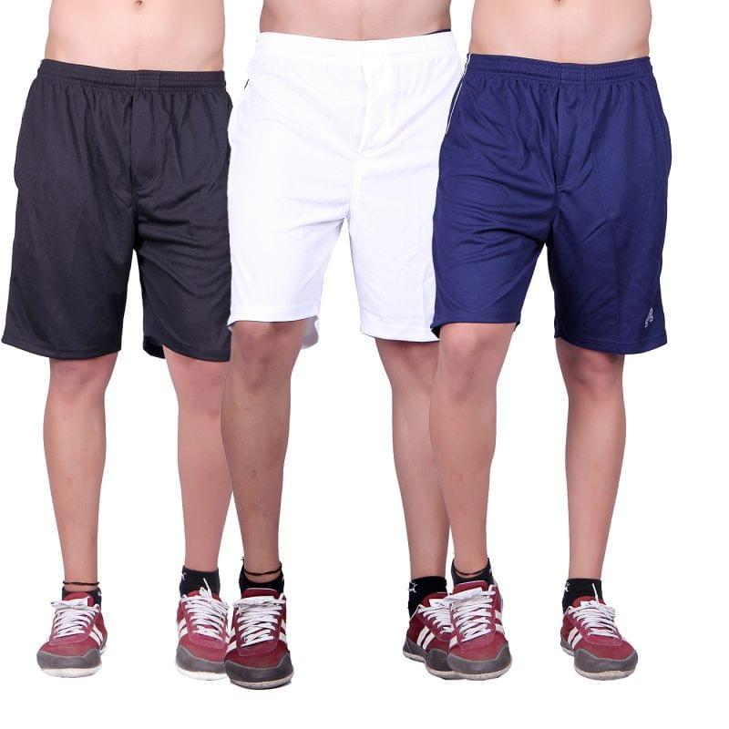 Combo of 3 Fashionable Summer Wear Solid 100% Cotton Shorts