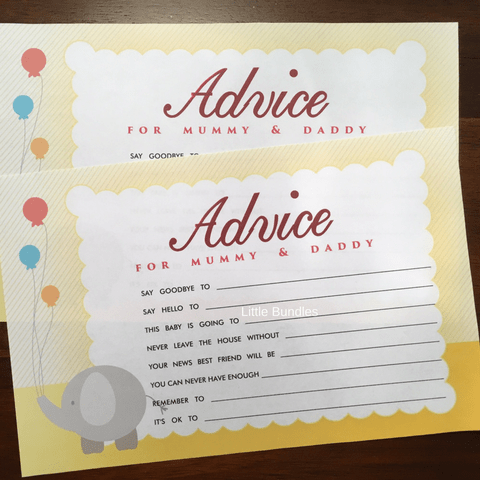 Advice Cards - Elephant Theme