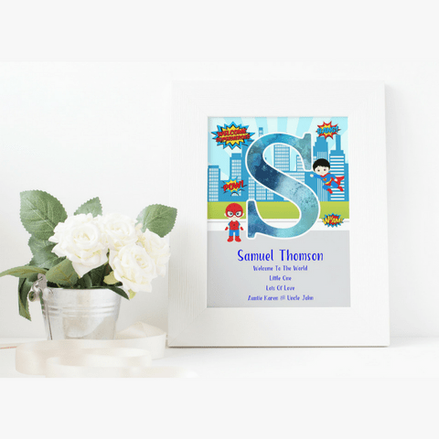Personalised Superhero Print