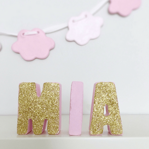 Pink Freestanding Letters