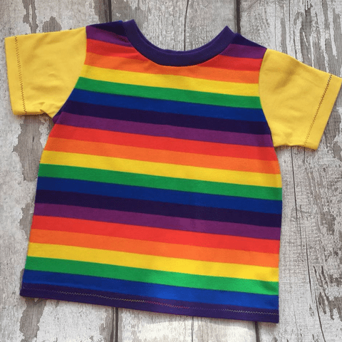Baby T Shirt - Rainbow Stripes