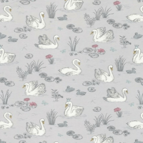 Baby T Shirt - Swans - Grey