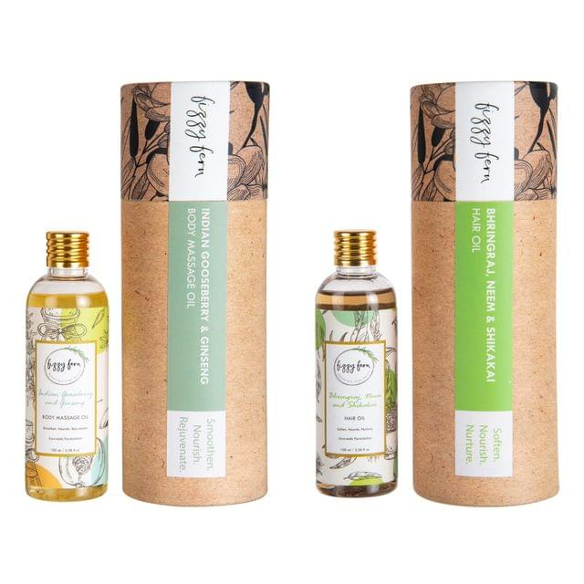 Wellness Combo (Body Massage Oil and Hair Oil)