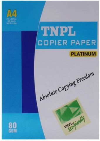 TNPL 80 GSM unruled A4 size Printer Paper  (Set of 1, white)