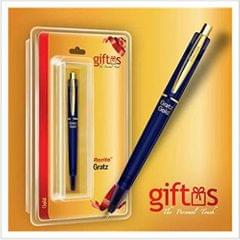 Rorito Grande Gold Retractable Pen (Blue)