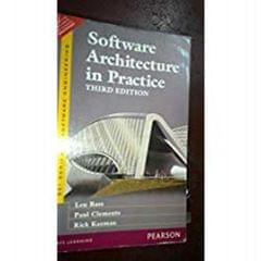 Software Architecture In Practice Ed.3