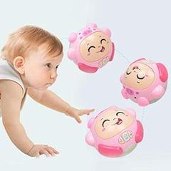 Vibgyor Vibes Cute Cartoon Electric Rolling Ball Light Sound Funny Toys Children Kids Educational Toy Gifts -Random Colour Will Be Sent