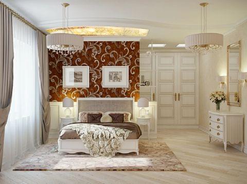 Red Cream Bedroom