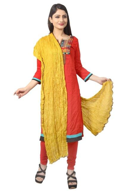 MUSTARD COTTON DUPATTA