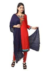 NAVY COTTON DUPATTA