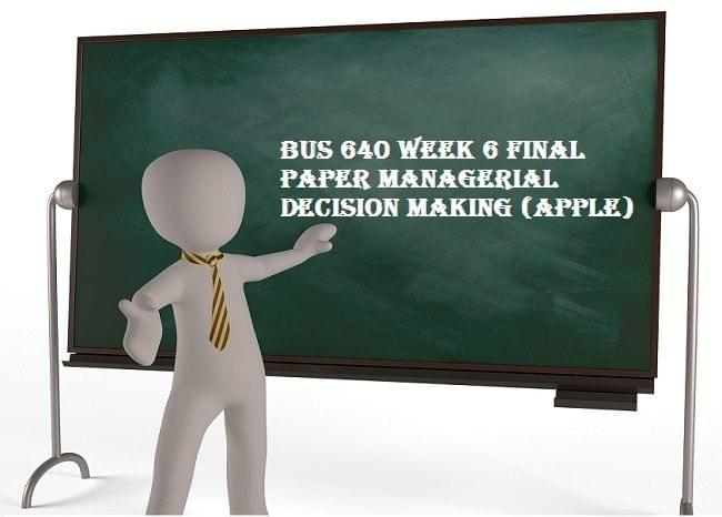 managerial decision making research paper Managerial decision making and argumentation write a short paper evaluating the support in a contemporary blog, argumentative essay, or editorial related posts:.