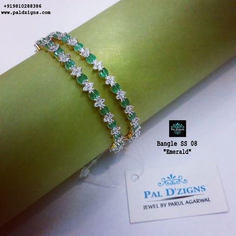 "Diamond Bangles 08 (2-6"")"