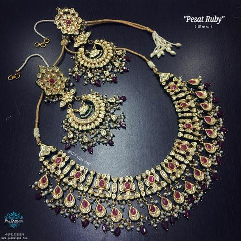 Pesat Ruby Necklace Set
