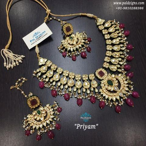 Priyam Ruby Emerald Set