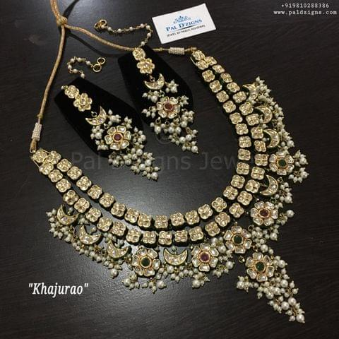 Khajurao kundan necklace set