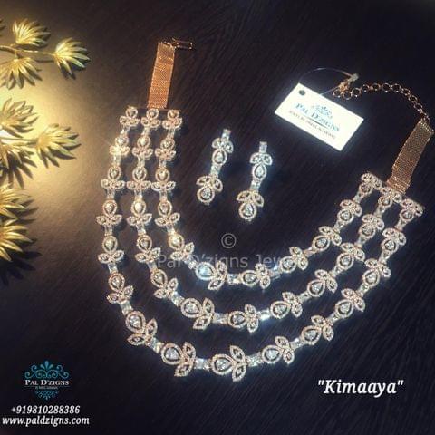 Kimaaya Diamond Necklace Set