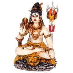 Purpledip Mahadev/ Shivji Idol for Table top , Car Dashboard Idol 2x2x4 inch (10143)