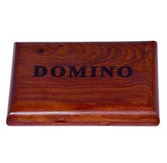 Purpledip Dominoes Game Set: Handmade from Rosewood with 28 Wooden Tiles (10418)