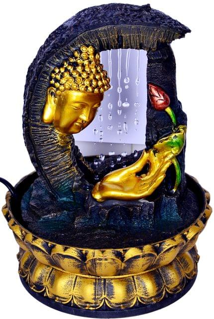 Purpledip FengShui Buddha Water Fountain With Trickling Rain Effect For Home  Décor (10435)