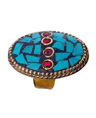 "Purpledip Vintage Collection Cocktail Ring For Women ""Twilight Fantasy"" (30010)"