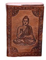 "Purpledip Leather Diary / Journal / Notebook ""Meditating Buddha"" (10527)"