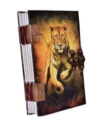 "Purpledip Vintage Journal ""Majestic Tiger"" (10620)"