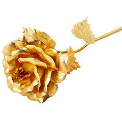 Purpledip Gold Rose In Classy Gift Box (10629)