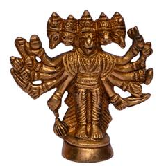 Purpledip Hindu Religious Lord Hanuman/Bajrangbali Statue in Panch-mukhi Avatar (10633)