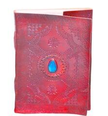 Purpledip Leather Journal with Naturally Treated Paper : Ancient Stone (10640)
