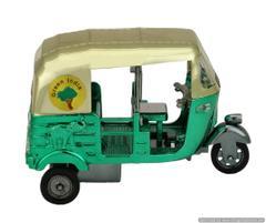 Purpledip Miniature Autorickshaw Metallic with Taj Mahal And Elephant Imprint (10641)