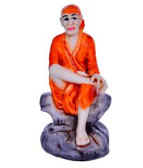 Purpledip Hindu Religious Small Sai Baba Statue (10652)